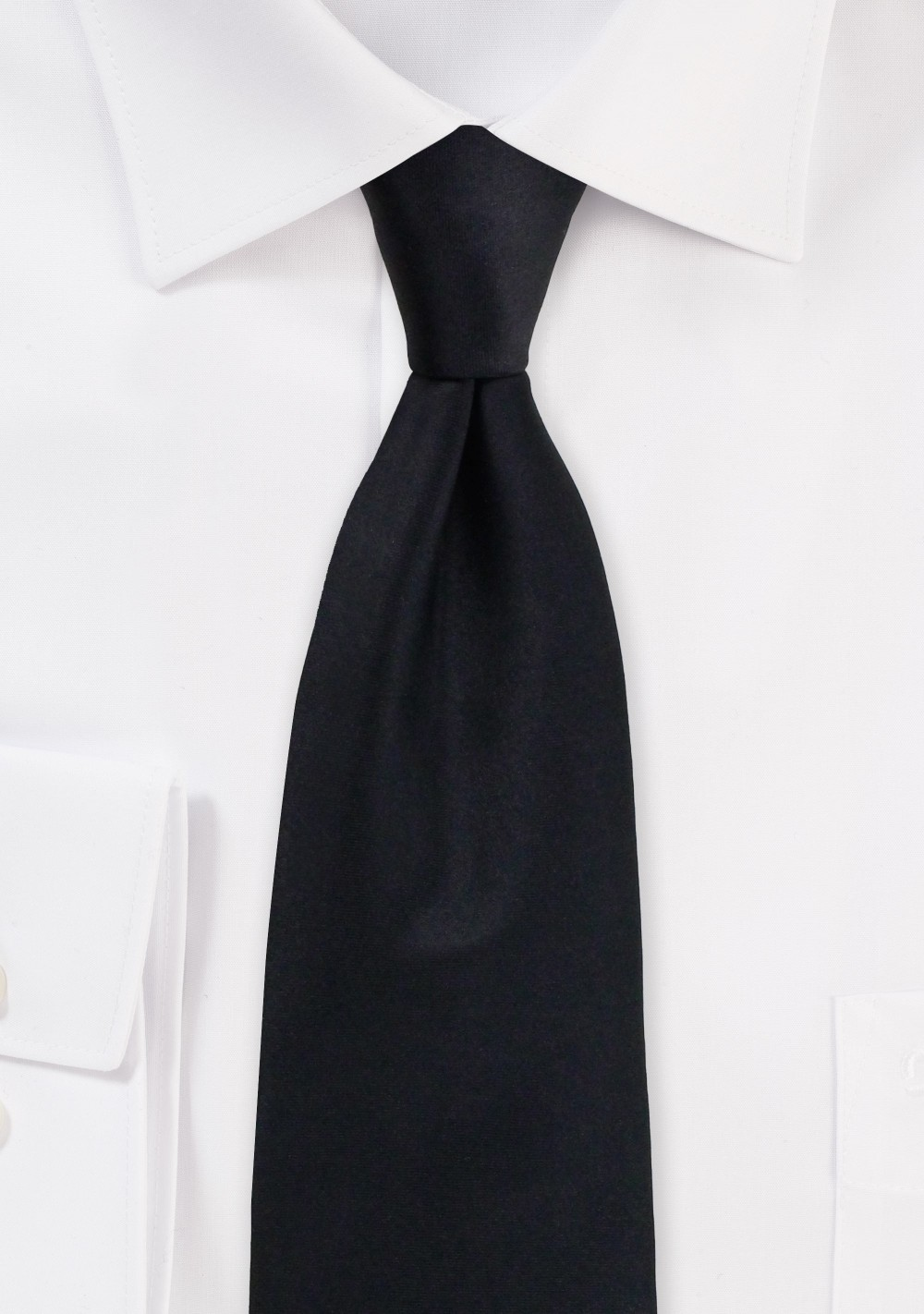Solid Black Necktie