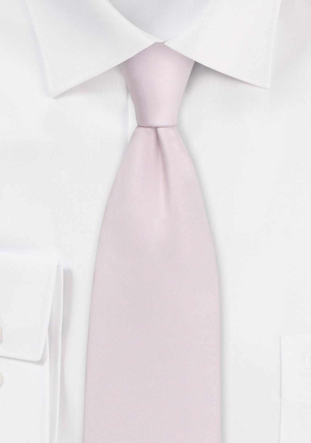 Solid Satin Tie in Blush Pink