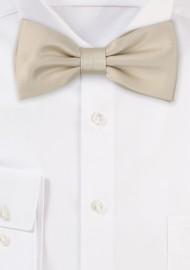 Boys Bow Tie in Solid Champagne