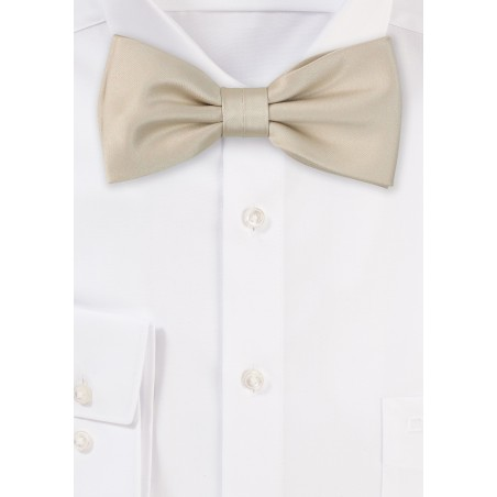 Satin Bow Tie in Champagne