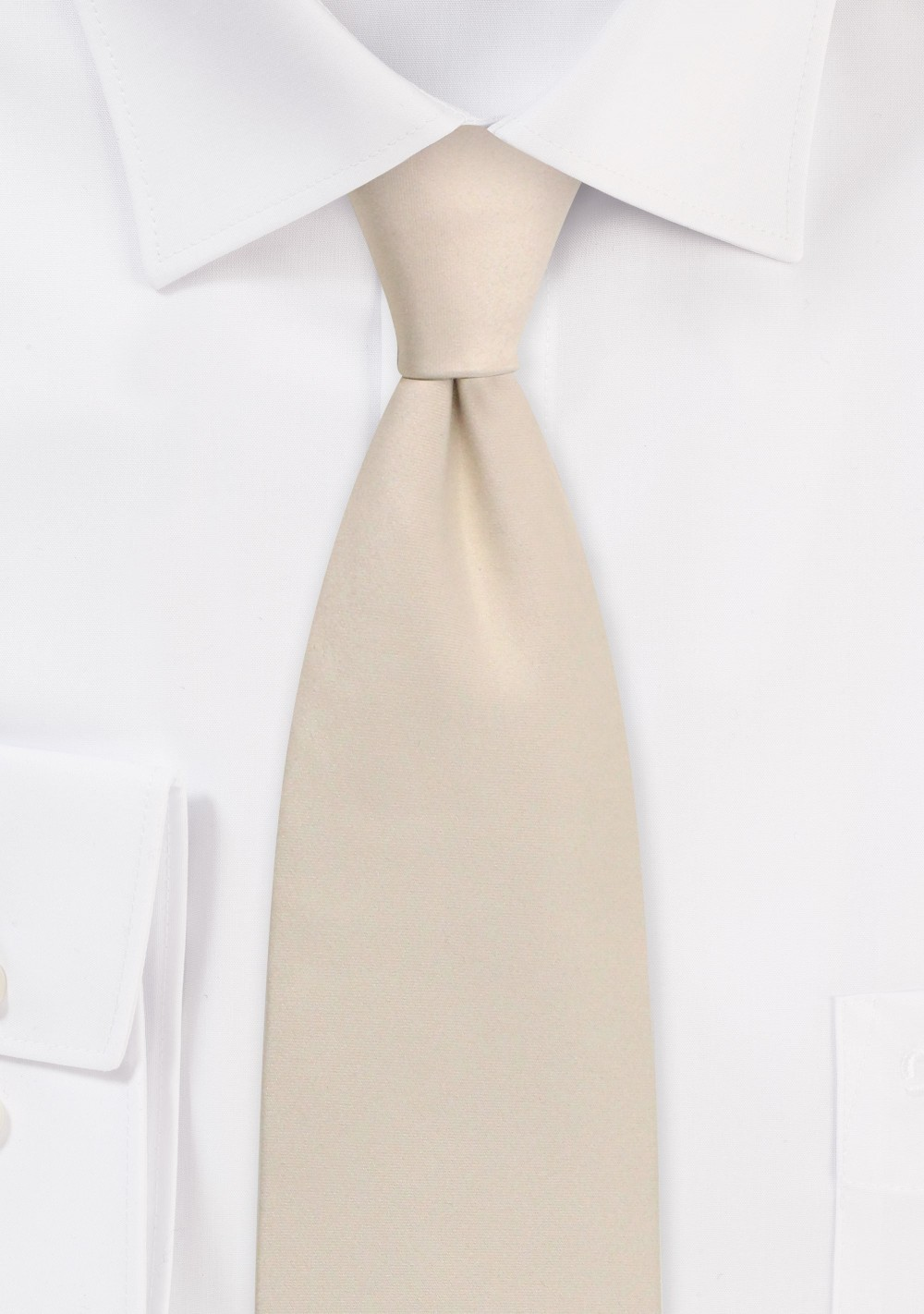Solid Satin Tie in Champagne