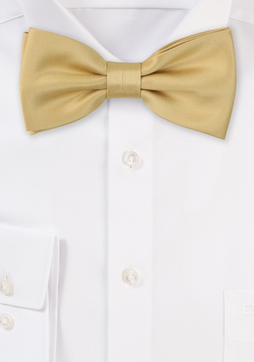 Satin Bow Tie in Golden Color