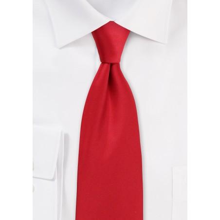 Cherry Red Necktie in Satin Finish