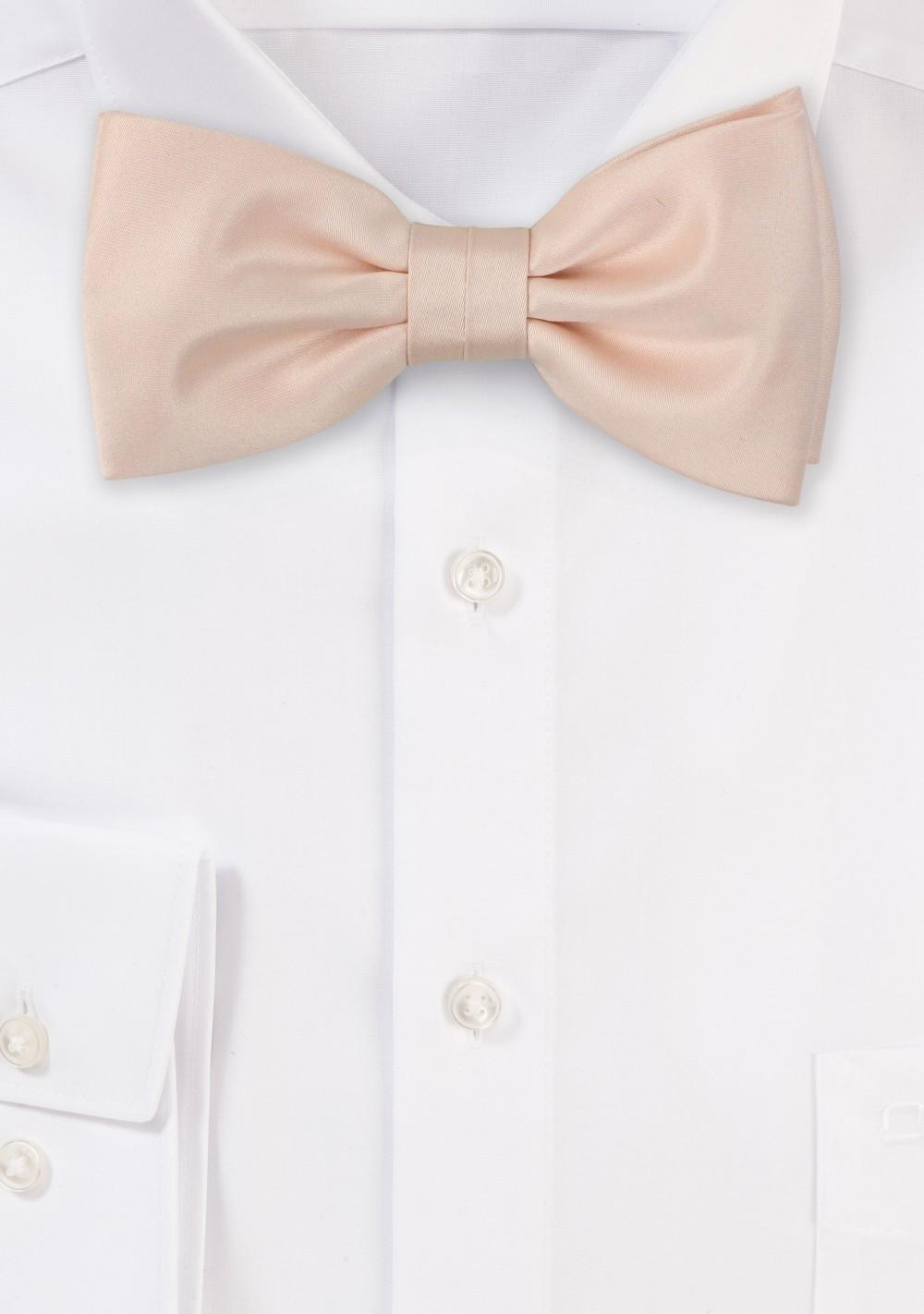 Antique Blush Satin Bow Tie
