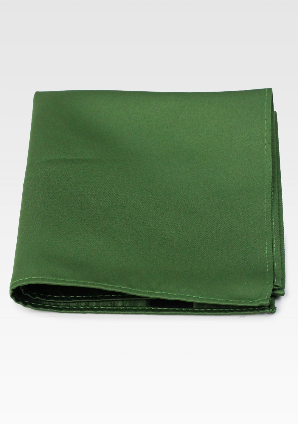 Solid Pocket Square in Moss Green