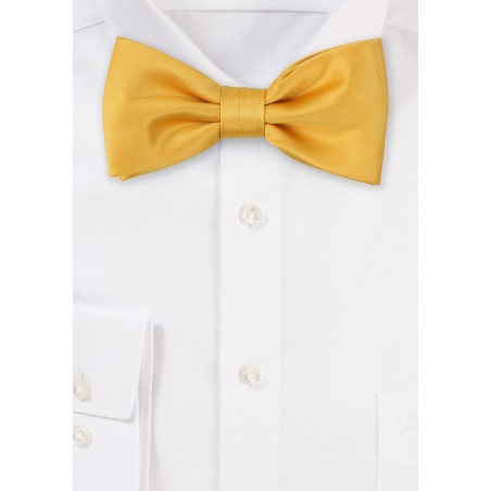 Amber Gold Bow Tie