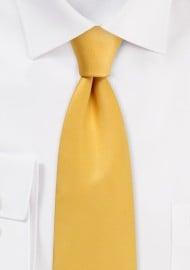 Amber Gold Satin Tie