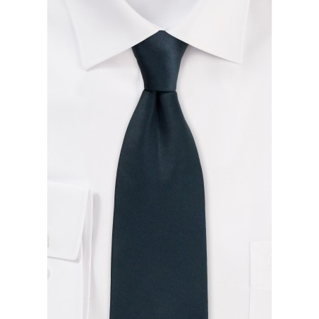 Formal Satin Tie in Charcoal