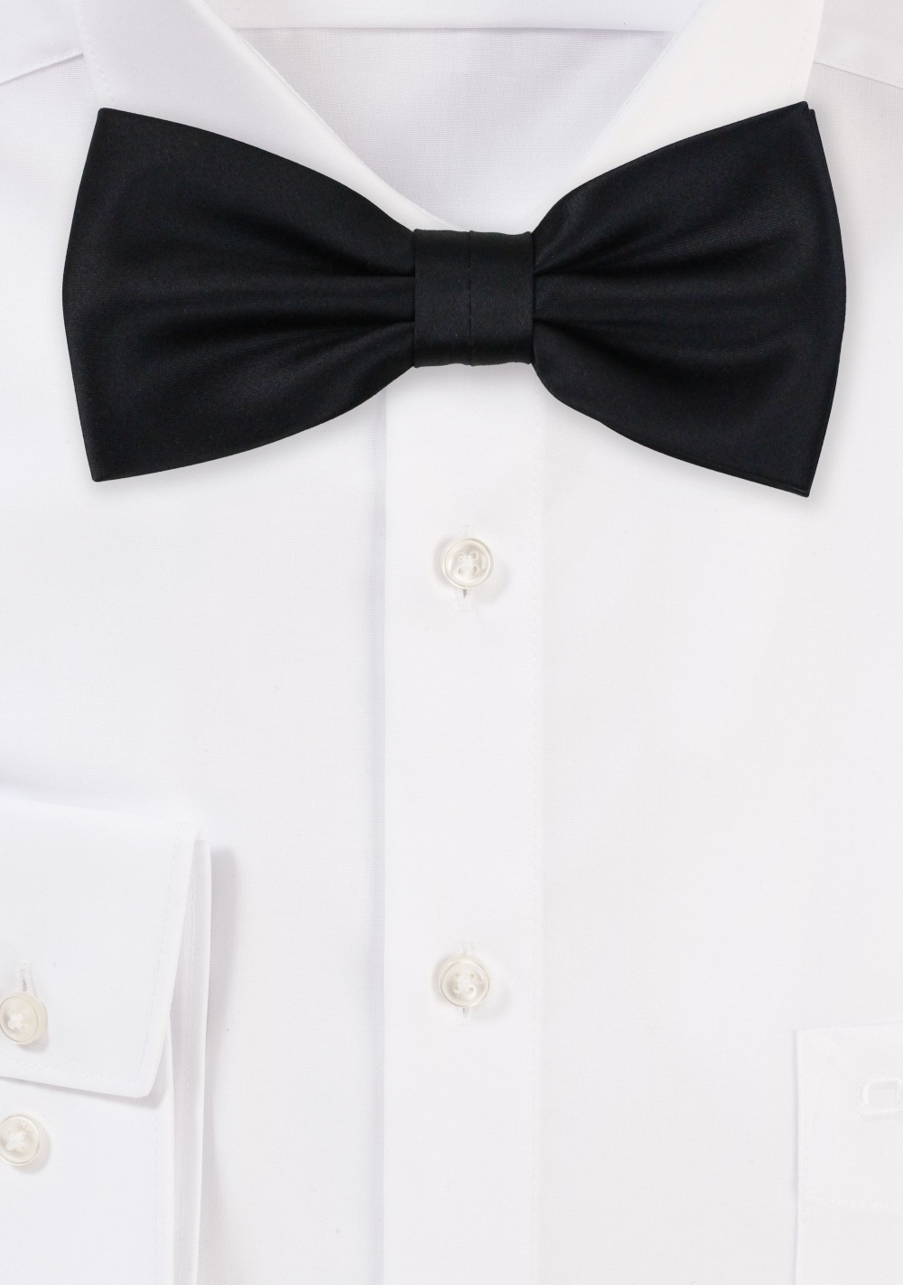 Formal Satin Kids Bow Tie in Black
