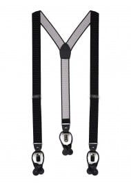 Black and Silver Pin Dot Suspenders