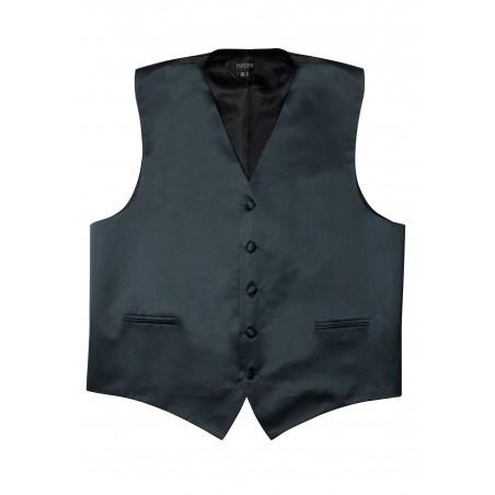 Charcoal Formal Satin Vest Flat