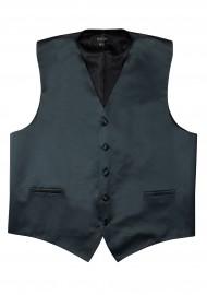 Kids Vest in Charcoal Gray Satin Flat