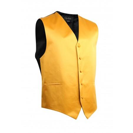 Amber Gold Formal Satin Vest