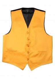 Amber Gold Formal Satin Vest Flat