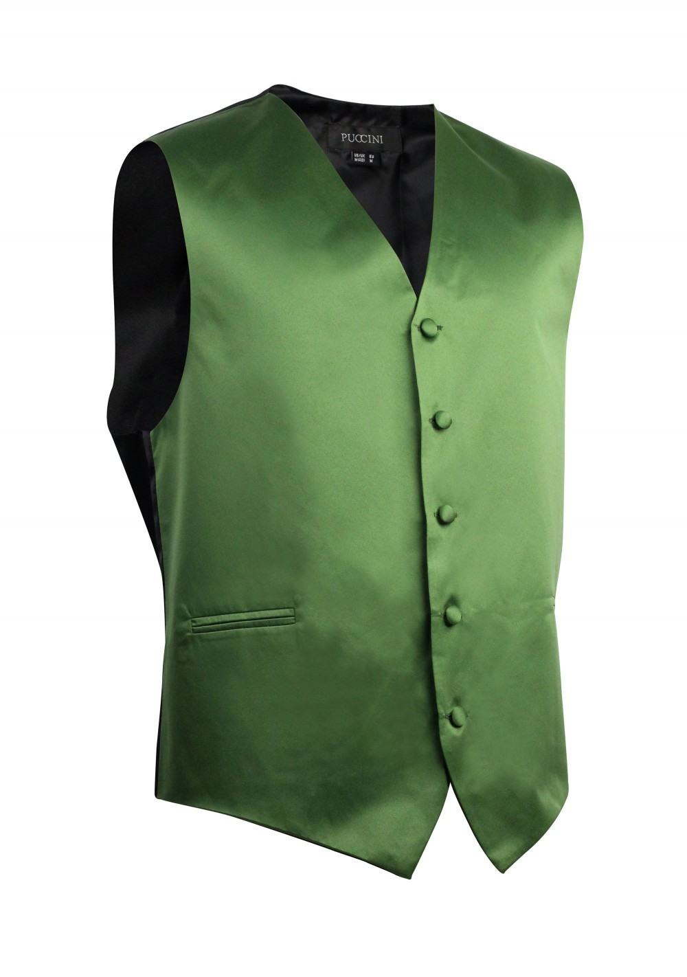 Moss Green Formal Satin Vest