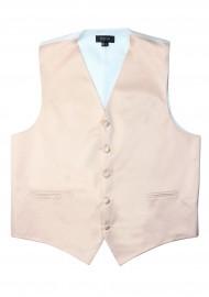 Antique Blush Formal Satin Vest Flat