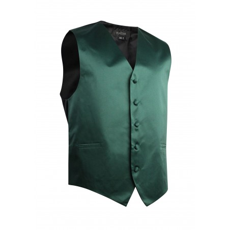 Hunter Green Formal Satin Vest