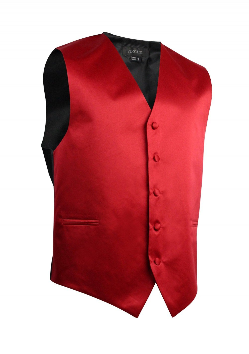 Cherry Red Formal Satin Vest