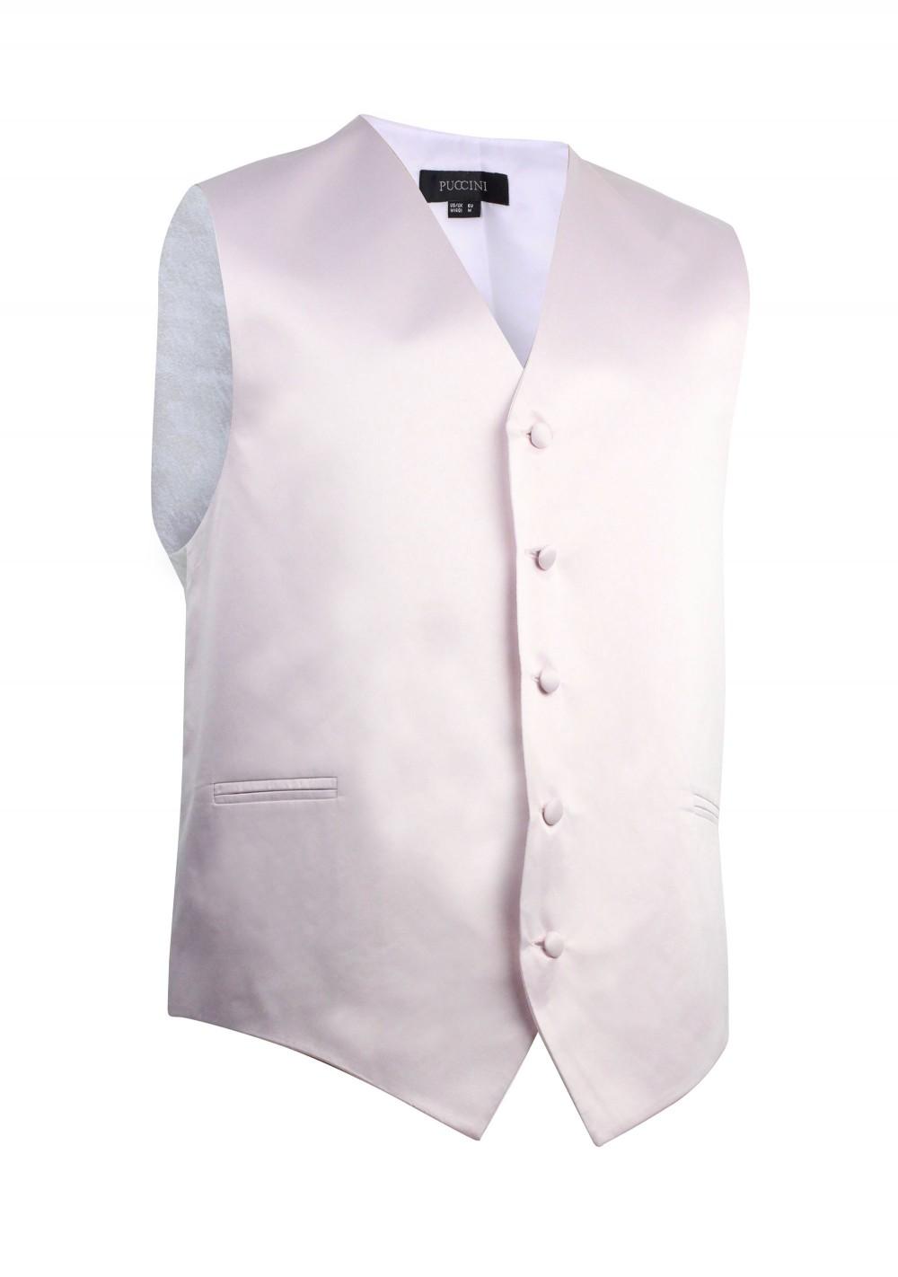 Kids Vest in Blush Pink Satin