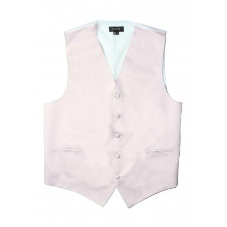 Kids Vest in Blush Pink Satin Flat