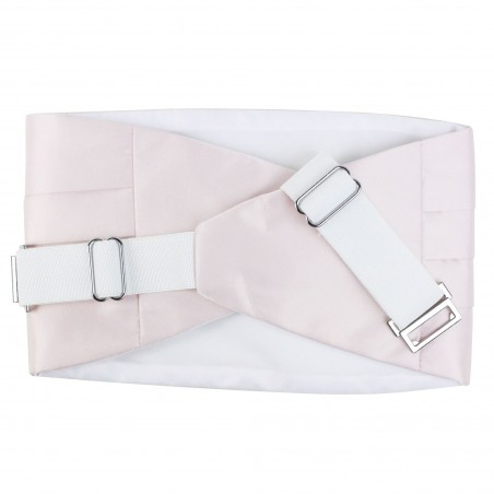 Dress Cummerbund in Blush Pink Back Clapses