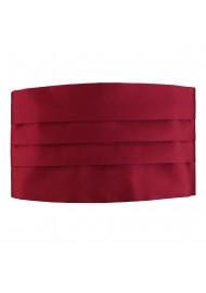 Burgundy Dress Cummerbund Front
