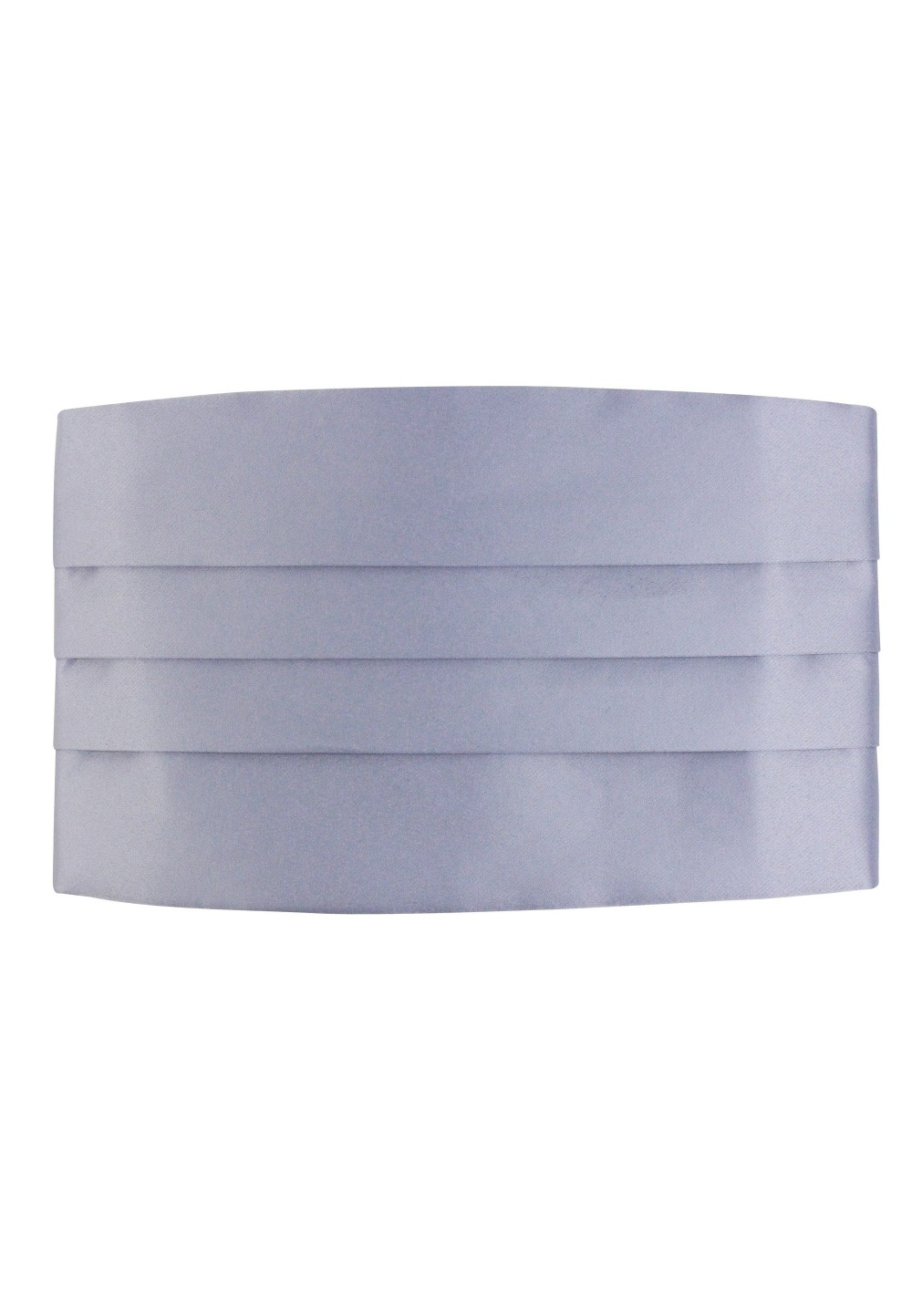 Silver Dress Cummerbund Front