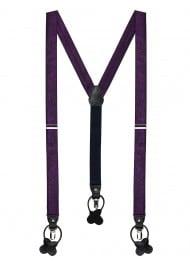 Paisley Suspenders in Berry