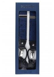Midnight Navy Paisley Suspenders in Box