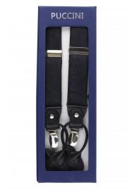 Black Paisley Suspenders in Box