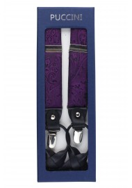 Paisley Suspenders in Berry in Box