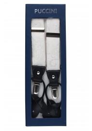 Ivory Paisley Suspenders in Box