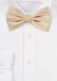 Matte Bow Tie in Peach