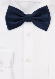 Matte Textured Bow Tie in Navy