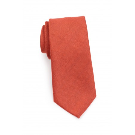 Matte Finish Autumn Tie in Cinnamon