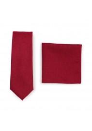 Bold Sedona Red Mens Tie Set