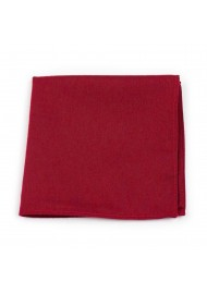 Bold Sedona Red Pocket Square