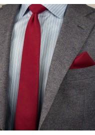 Bold Sedona Red Mens Tie Set Styled