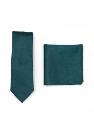 Skinny Tie Set in Gem Green