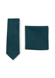 Forest Green Skinny Tie Set