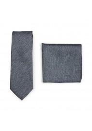 Charcoal Skinny Tie Set