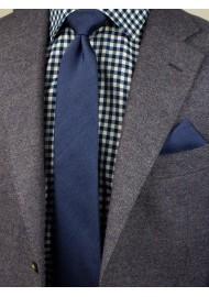 Slate Blue Skinny Tie Set Styled