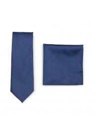 Slate Blue Skinny Tie Set