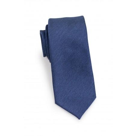 Slate Blue Skinny Tie