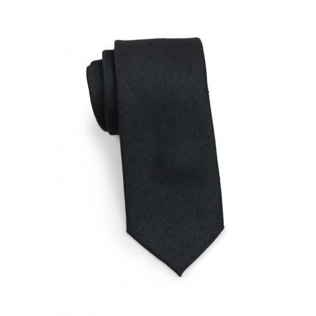 Matte Black Skinny Tie