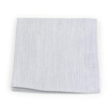 Linen Textured Pocket Square in Mystic Gray