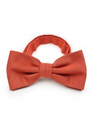 Matte Bow Tie in Cinnamon Orange