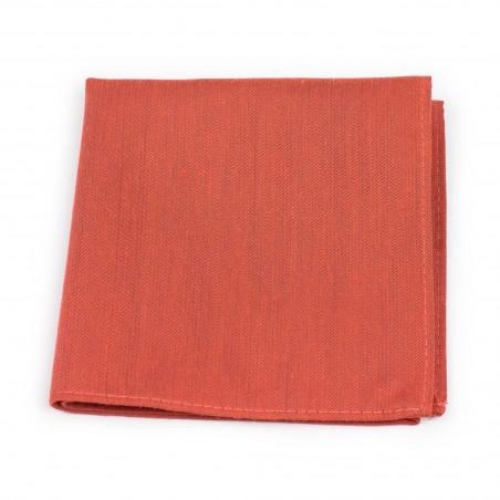 Matte Pocket Square in Cinnamon Orange