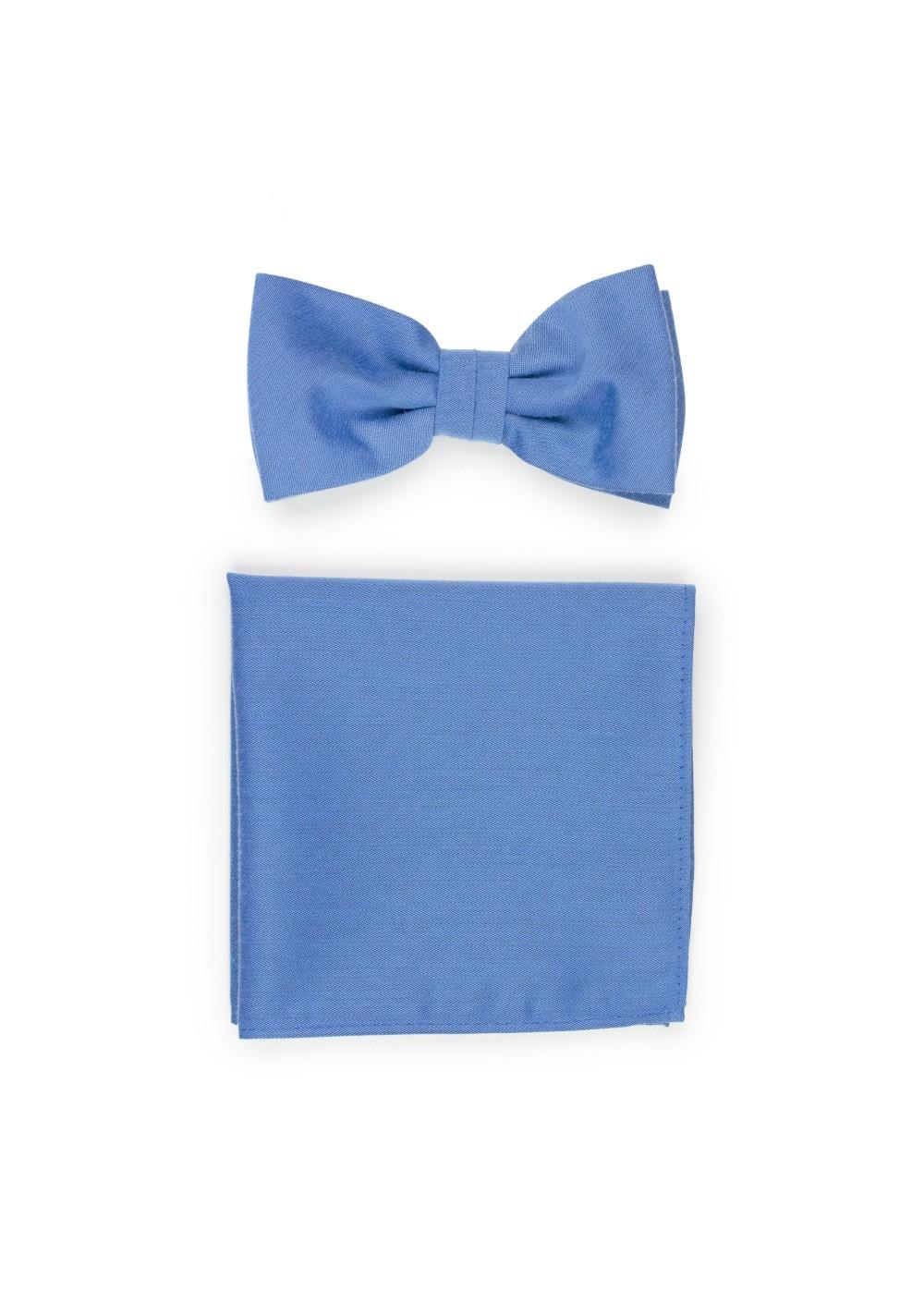 Ash Blue Bowtie Set