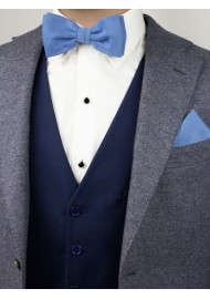 Ash Blue Bowtie Set Styled
